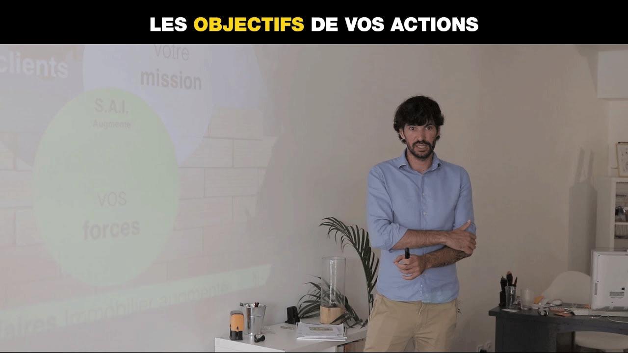 Les objectifs de vos actions
